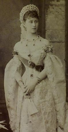 Grand Duchess Elizabeth, dated 1885, by St. Petersburg photographer of the Russian Imperial court Bergamasco.