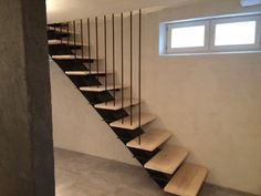 cellar staircase ideas wooden DIY stairs handrails made of steel puiset porta Stairs Ideas cellar DIY Handrails Ideas porta puiset Staircase stairs Steel wooden Stair Handrail, Handrail Ideas, Wooden Stairs, Concrete Floors, Glass Shelves, Wooden Diy, Stairways, Industrial Style, Cool Designs