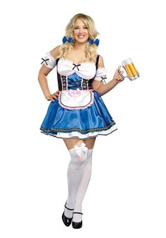 Womens Plus Size Happy New Beer Costume