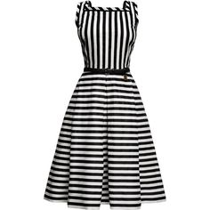 Rumour London - Riviera Striped Sleeveless Dress ($300) ❤ liked on Polyvore featuring dresses, vestidos, striped, leather tie belt, white pleated dress, pleated midi dress, white midi dress and striped midi dress