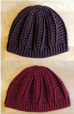 crochet cable cap