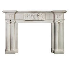 Monumental 18th Century Statuary Marble Fireplace