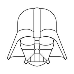 Awesome 'Darth+Vader+-+Simple+Graphic' design on TeePublic! Darth Vader Cartoon, Darth Vader Mask, Darth Vader Costumes, Vader Helmet, Darth Maul, Darth Vader Stencil, Darth Vader Artwork, Simbolos Star Wars, Star Wars Quilt