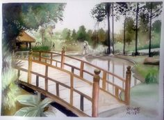Templo Zu Lai, Cotia-SP #watercolor#aquarela#painting#art#landcape