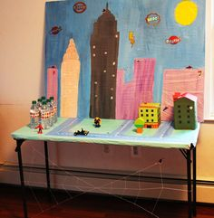 Spiderman party table.