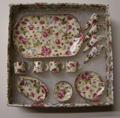 vintage miniature dish set
