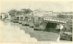 "Manila is dissected north and south by the Pasig River and of course, many esteros. As a matter of fact in the early Manila had been referred to as ""Venice of the Orient"",… History Facts, Manila, Philippines, Venice, Nostalgia, Bridge, River, Street, Outdoor"