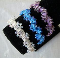 Macrame bracelet in technology | biser.info - all about beads and beaded work