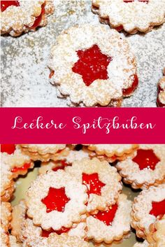 Rogue boys according to grandmother's Spitzbuben nach Großmutters Rezept Delicious goats that should not be missing on any cookie plate # Spitzbuben # Christmas cookies - Italian Desserts, Apple Desserts, Party Desserts, Summer Desserts, Apple Recipes, Christmas Desserts, Christmas Cookies, Cupcake Christmas, Italian Pastries