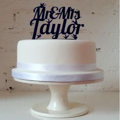 'Mr & Mrs....' Personalised Wedding Cake Topper - The Little Bird Design