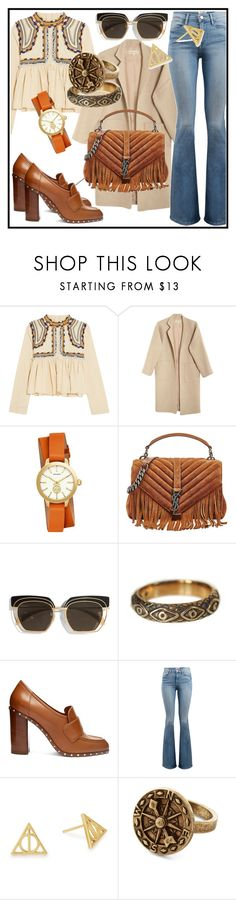 """Bohemian Style"" by elenzark ❤ liked on Polyvore featuring Isabel Marant, Mara Hoffman, Tory Burch, Yves Saint Laurent, Safilo, Pamela Love, Valentino, Frame and Alex and Ani"