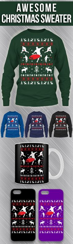 dfc9fffda7c Disc Golf Ugly Christmas Sweater! Click The Image To Buy It Now or Tag  SomeoneYou