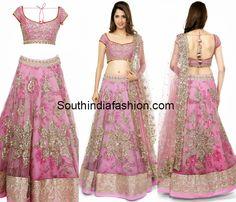 Pink Bridal Lehenga by Anushree Reddy – South India Fashion Half Saree Designs, Lehenga Designs, Lengha Design, Blouse Designs, Indian Dresses, Indian Outfits, Elegant Dresses, Pretty Dresses, Choli Dress