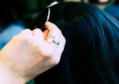 Triple Eye of Shiva Seashell Sterling Silver Ring