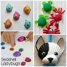 Here are some amazing seashell crafts for the kids to make this summer!
