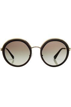 Sonnenbrille mit runden Gläsern | Prada