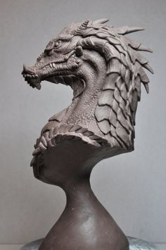 Northern King Dragon Bust 3 by AntWatkins.deviantart.com on @deviantART
