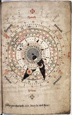 Astronomical calendar, by Nicholas of Lynn, ca. 1324 / Sacred Geometry