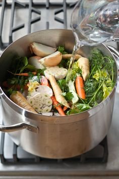 Homemade Chicken Stock makes all the difference- I like to make a big batch and store the stock in plastic containers in my freezer. Then, whenever I'm making a recipe that calls for chicken stock, I know I have some on hand!