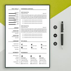 Resume template Professional resume template instant image 1 Modern Resume Template, Resume Templates, Cv Simple, Cv Tips, Teacher Resume Template, One Page Resume, Cv Design, Change Image