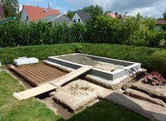 Plattenfundament Gartenhaus