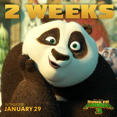When you realize Kung Fu Panda 3 hits theaters in literally 2 WEEKS.