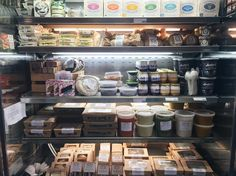 Cheeses, yoghurt, treats and our homemade grab&go eats 👌👌 Keeping our fridges stocked for picnic season! (at Haymaker's Corner Store)