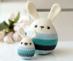 Crochet bunny eggs.