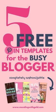 If you're stuck with loads of blogging work then use these free Pinterest Pin Image Templates to save yourself the hassle of designing pins for your next blog post. Completely customizable.