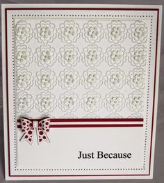 PartiCraft 7 x 8 1/4 Just Because Itty Bitty Dotty Bow, Daisy Tiers embossing folder
