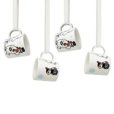 Moomin 4 Mini Mugs for Christmas Tree Arabia Winter Forest 2012