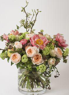 Livraison bouquet roses et pivoines Paris - Vintage Pattern | Flower.fr
