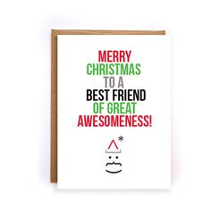 Christmas cards for friends Merry Christmas by NirvanaDesignsGifts