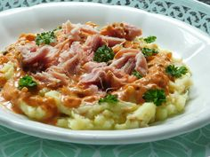 Czech Recipes, Ethnic Recipes, Meat Recipes, Risotto, Mashed Potatoes, Pork, Meat Food, Whipped Potatoes, Kale Stir Fry