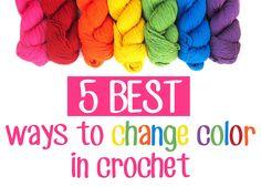 5 BEST Ways to Change Color in Crochet