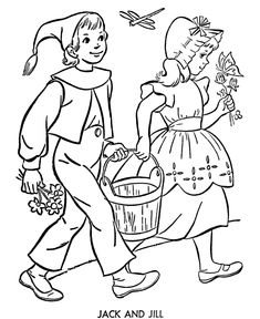 BlueBonkers Nursery Rhymes Coloring Page Sheets