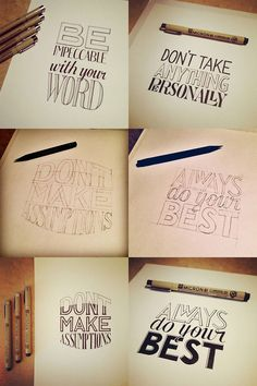 One of those times is when your client needs a unique typeface or logo that isn't generated by that oh-so-predictable friend of ours the computer. So here are 28 amazing typography designs that use hand drawn type. Some have been created completely by hand. Others have been sketched and scanned into Photoshop or Illustrator.