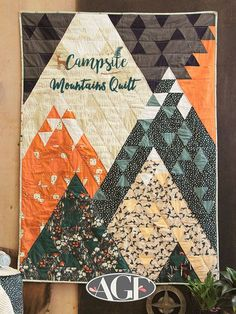 """Sew Quilt Inspired by camping in the forest?! View our FREE QUILT PATTERN for """"Mountains Quilt"""" featuring our fabric collection, """"Campsite."""" Art Gallery Fabrics, Art Simple, Sewing Hacks, Sewing Tips, Sewing Tutorials, Quilt Baby, Ideias Diy, Leftover Fabric, Quilt Patterns Free"""
