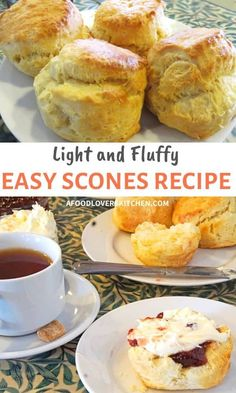These easy-to-make scones are so good when topped with the classic combination of clotted cream and jam. Try these light and fluffy scones at home. Simple English Scone Recipe, Classic Scones Recipe, English Scones, Tea Scones Recipe, Best Scone Recipe, Fruit Scones, Cheese Scones, Clotted Cream Recipes, Scones And Cream Recipes