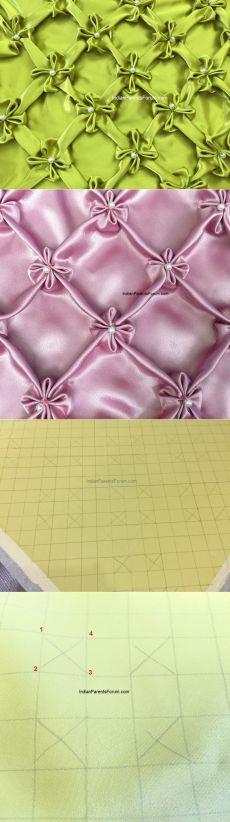 Канадский смокинг - Учебник 20 (цветки жасмина - 2-й способ) Smocking Tutorial, Smocking Patterns, Sewing Patterns, Sewing Hacks, Sewing Tutorials, Sewing Projects, Diy And Crafts Sewing, Fabric Crafts, Canadian Smocking