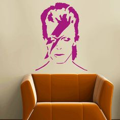 David Bowie Reusable Stencil. For home decor, Wall Art and many other art projects. Check out our David Bowie and many other iconic stencils at Ideal Stencils, the hub of stencils and stenciling. UK Supplier of Stencils.