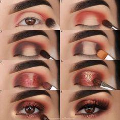 Tutorial Augen Make-up - Prom Makeup Black Girl Eye Makeup Tips, Makeup Goals, Skin Makeup, Makeup Inspo, Makeup Inspiration, Beauty Makeup, Makeup Eyeshadow, Makeup Ideas, Makeup Products