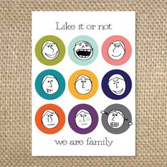36 best step family greeting cards images on pinterest greeting like it or not we are family by uluckygirl on etsy 295 etsy cards m4hsunfo