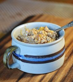 Peach Spice Overnight Oatmeal - Low-fat, Sugar-free, THM:E