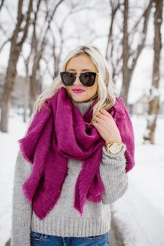 52 Amazing Fall Outfit Ideas with Scarf To Copy This Moment Outfit, # Bright Winter Outfits, Cute Fall Outfits, Casual Outfits, Bright Spring, Grey Sweater Outfit, Sweater Outfits, Valentine's Day Outfit, Outfit Of The Day, Outfit Ideas