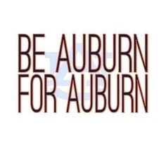 "In 1943 George Petrie coined the phrase, ""I believe in Auburn and love it."" There is no doubt that Petrie's words still ring true. I am proud to be a part of the Auburn family. Our football team & staff need the Auburn family for encouragement & support more than ever before. Our team needs us, and I know we can be there for them. This is more important than a football game & more important than wins or losses. Let's stay later & yell louder, because we believe in Auburn & love it."