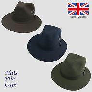 7080be27595 British Wax Cotton Failsworth Fedora Waterproof Fishing Walking Adventure  Hat Adventure Hat