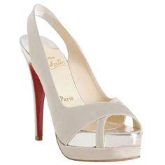 Christian Louboutin Shoes Verycroise Slingbacks White