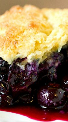 Blueberry Cobbler Recipe ~ This is one absolutely phenomenal dessert that's easy to make and a fabulous celebration of summer