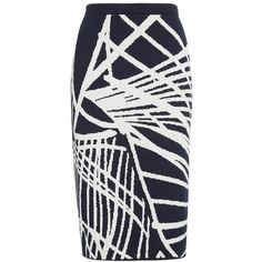Women's Lafayette 148 New York Spindled Jacquard Skirt ($348) ❤ liked on Polyvore featuring skirts, knee length pencil skirt, print pencil skirt, print skirt, patterned skirts and pencil skirt